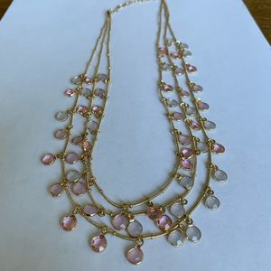 Anne Klein Gold-Tone and Crystal Necklace